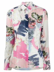 Ermanno Scervino cartoon print shirt - PINK