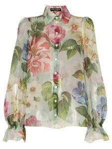 Dolce & Gabbana floral print organza shirt - Multicolour