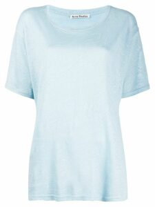 Acne Studios short-sleeved linen T-shirt - Blue