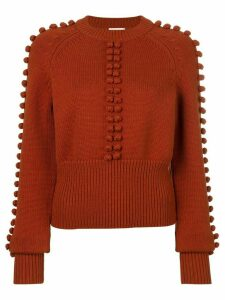 Chloé pompom knit sweater - ORANGE