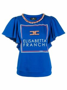 Elisabetta Franchi chain detail top - Blue