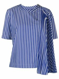 Sacai pleated panel blouse - Blue