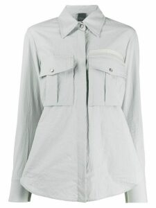 Lorena Antoniazzi patch pocket shirt - Grey