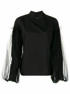 Comme Des Garçons Noir Kei Ninomiya tulle-embellished cotton blouse -