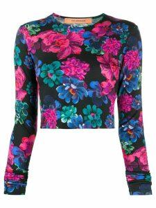 Andamane floral print jumper - Black