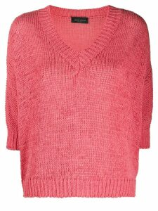 Roberto Collina V-neck jumper - PINK