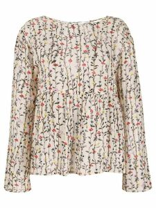 Semicouture floral print blouse - NEUTRALS