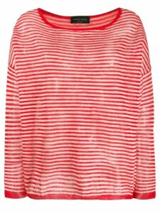 Roberto Collina striped print jumper - Red