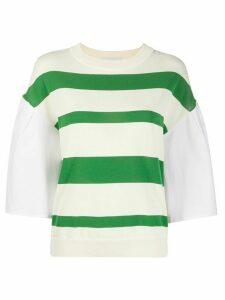 Erika Cavallini poplin sleeve T-shirt - NEUTRALS