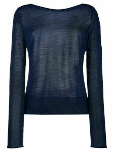 Roberto Collina side slit jumper - Blue