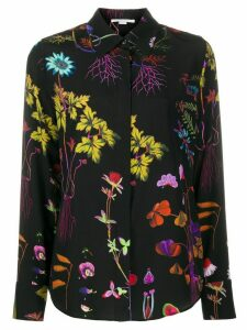 Stella McCartney floral-print silk shirt - Black