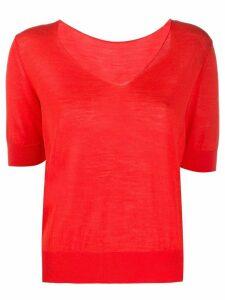 Roberto Collina V-neck T-shirt - ORANGE