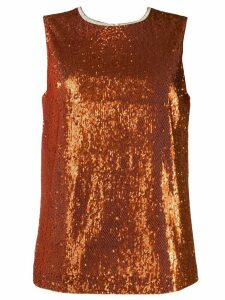 P.A.R.O.S.H. sequin embellished top - ORANGE