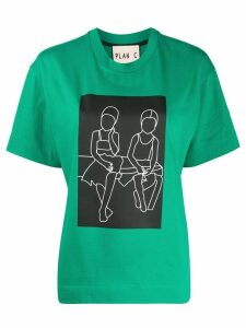 Plan C oversized fit T-shirt - Green