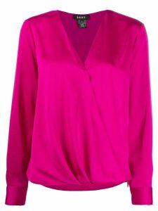 DKNY wrap style blouse - PINK
