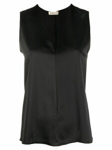Blanca Vita sleeveless v-neck blouse - Black