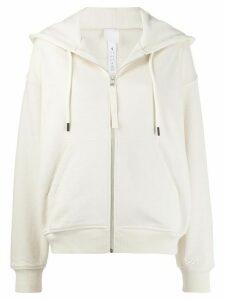 Reebok x Victoria Beckham knitted logo hoodie - NEUTRALS