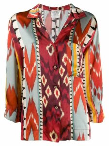 Forte Forte geometric print silk shirt - ORANGE