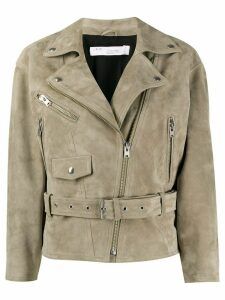 IRO leather biker jacket - Green
