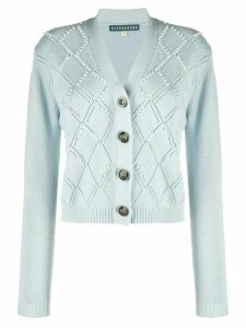 Alexa Chung faux-pearl embellished cardigan - Blue
