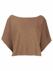 D.Exterior glitter detail knit top - Brown