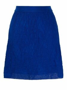 M Missoni textured knit skirt - Blue