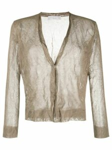 Fabiana Filippi sheer lurex knit cardigan - Brown