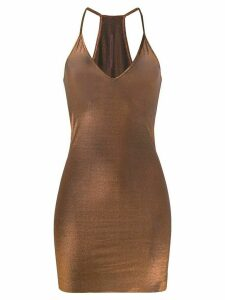 Rick Owens Lilies fitted longline top - Metallic