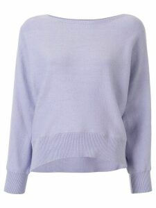 Tomorrowland relaxed-fit boat-neck jumper - PURPLE