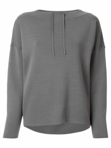 Tomorrowland loose-fit drawstring-neck sweatshirt - Grey