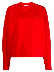 Y-3 loose-fit logo sweatshirt - Red