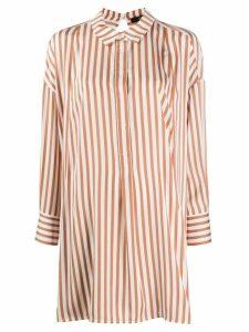 Steffen Schraut long striped shirt - White
