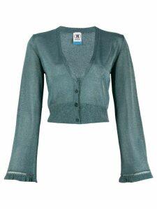 M Missoni lurex knit cropped cardigan - Blue