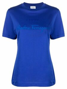 Salvatore Ferragamo logo stamp T-shirt - Blue