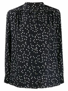 A.P.C. silk heart print blouse - Black