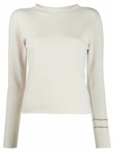 Fabiana Filippi cashmere long sleeve jumper - NEUTRALS