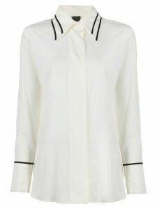 Lorena Antoniazzi contrast trim loose-fit shirt - White