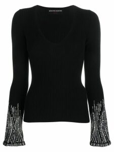 Ermanno Scervino embellished sleeve jumper - Black