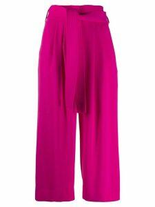 P.A.R.O.S.H. tie-waist culottes - PINK