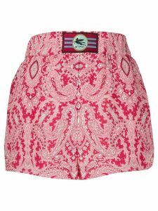Etro paisley-print slip-on shorts - Red