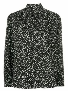 Saint Laurent button up animal print shirt - Black