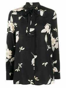 Etro floral print pussy bow blouse - Black