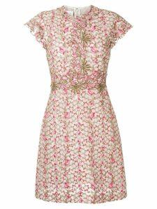 Giambattista Valli floral embroidery dress - PINK