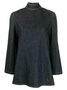 Valentino VGOLD denim blouse - Blue