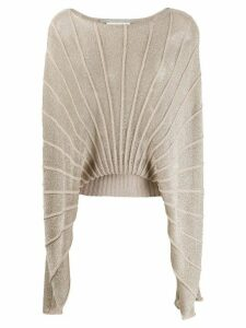 Stella McCartney cape-style knitted top - NEUTRALS