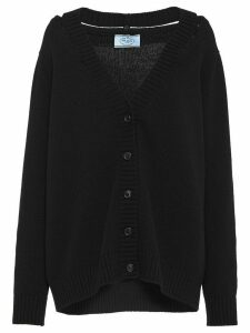 Prada cut-out detailed cardigan - Black