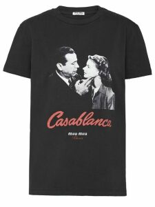 Miu Miu Casablanca kisses jersey T-shirt - Black