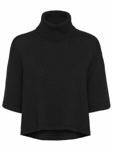 Prada short-sleeved knitted jumper - Black