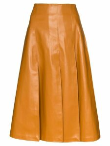 A.W.A.K.E. Mode button-back knee-length skirt - BROWN
