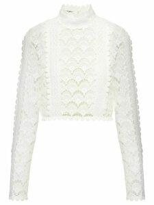 Miu Miu Raschel lace jumper - White